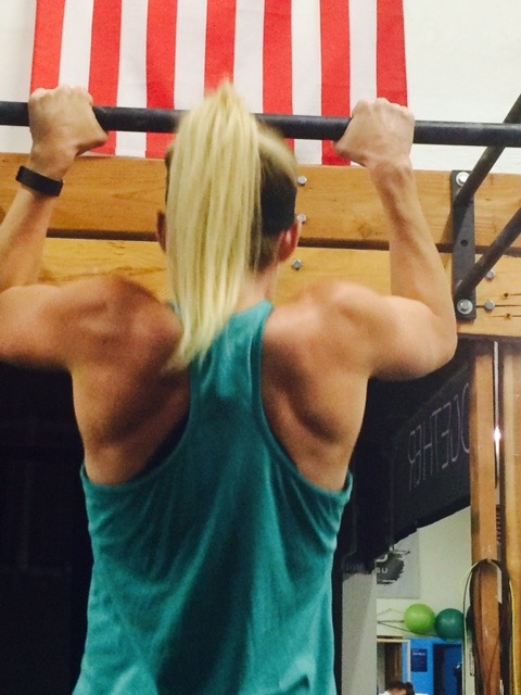 Tenacity pays off. Corey consistently worked on her strict pull ups until finally one day, it just clicked.